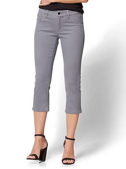 Soho Jeans - Curvy Cropped Legging - Grey - New York & Company