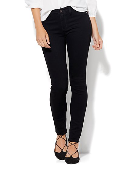 Soho Jeans - Curvy Legging - Black - Petite  - New York & Company