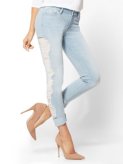Soho Jeans - Destroyed Boyfriend - Downtown Blue Wash  - New York & Company