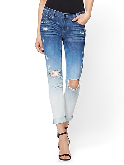 Soho Jeans - Destroyed Boyfriend - Ombre Blue Wash - New York & Company