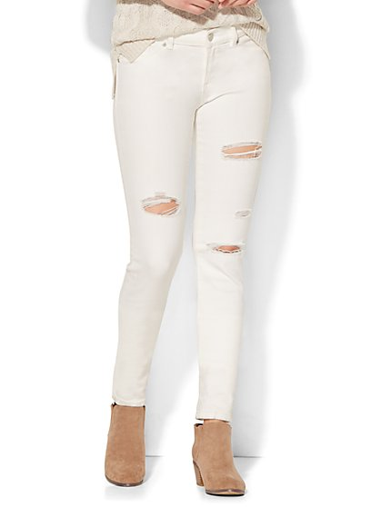 Soho Jeans - Destroyed Skinny - White - New York & Company