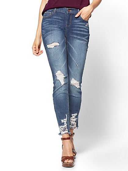 Soho Jeans Destroyed SuperStretch Legging  - New York & Company