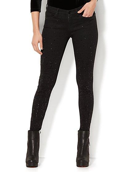Soho Jeans -  Embellished Skinny - Black - New York & Company