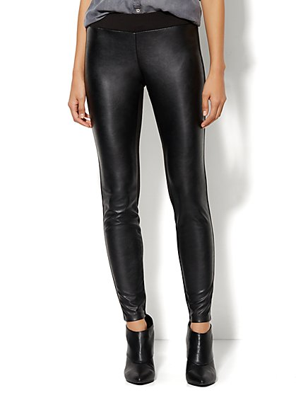Soho Jeans - Faux-Leather Front Legging - New York & Company