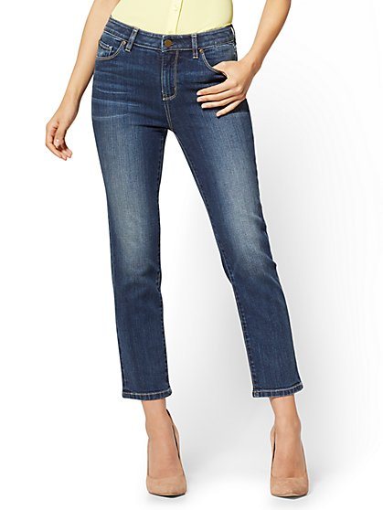 Soho Jeans - High-Waist Cropped Straight Leg - Blue Craze Wash - New York & Company