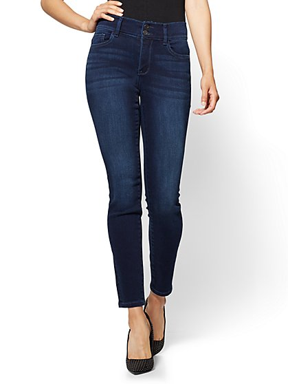 Soho Jeans - High-Waist Curvy Ankle Legging - Endless Blue Wash - Petite - New York & Company