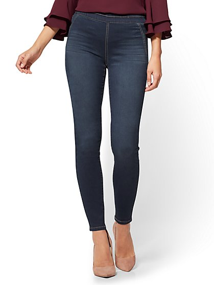 Soho Jeans - High-Waist Pull-On Legging - Patch Blue Wash - Tall - New York & Company