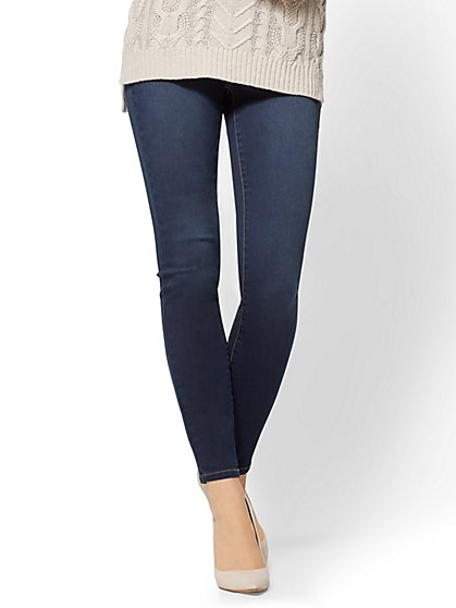 Soho Jeans - High-Waist Pull-On Legging - Patch Blue Wash - New York & Company