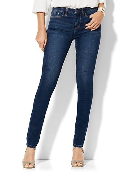 Soho Jeans - High-Waist Skinny - Dark Tide Wash - Tall  - New York & Company