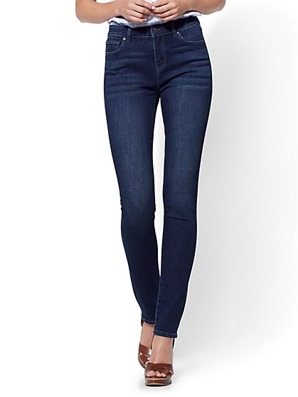 Soho Jeans - High-Waist Skinny - Endless Blue Wash - Average - New York & Company