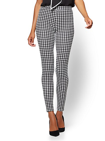 Soho Jeans - Houndstooth-Print Legging - New York & Company