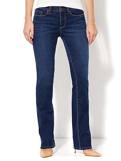 Soho Jeans - Instantly Slimming - Bootcut - Polished Blue Wash - Petite - New York & Company