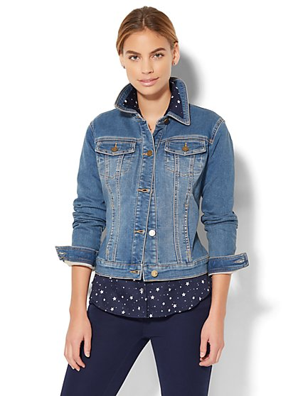 Soho Jeans - Knit Denim Jacket  - New York & Company