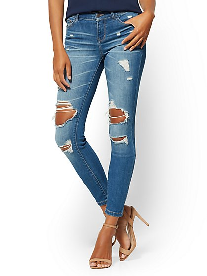 Soho Jeans - NY&C Runway - Ultimate Stretch - Destroyed Legging - New York & Company
