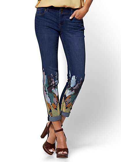 Soho Jeans - Painted Boyfriend - Blue Love Wash - New York & Company