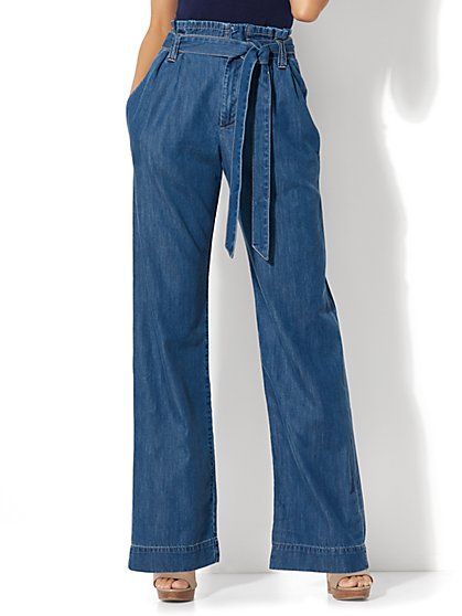 Soho Jeans - Paperbag-Waist - Goldstone Blue Wash - New York & Company