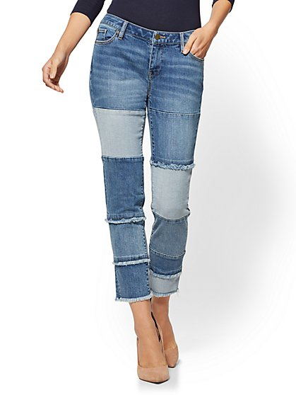 Soho Jeans - Patchwork Boyfriend - Stranded Blue Wash - New York & Company
