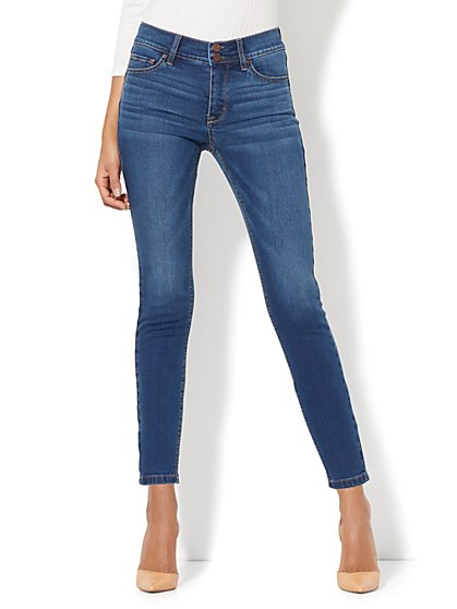 Soho Jeans - Power Shaper Ankle Jean - Force Blue Wash - New York & Company