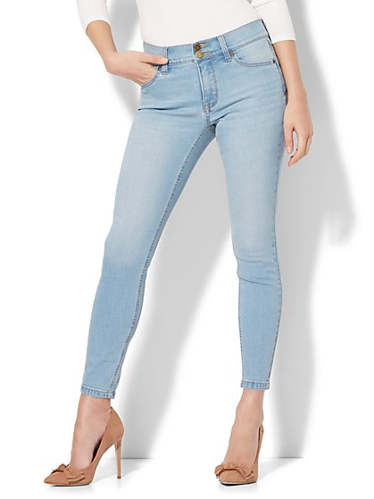 Soho Jeans - Power Shaper Ankle Jean - Snowflake Blue Wash - New York & Company