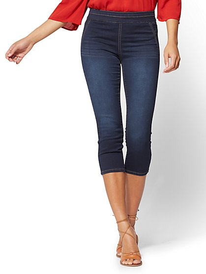 Soho Jeans - Pull-On Cropped Legging - Rinse - New York & Company