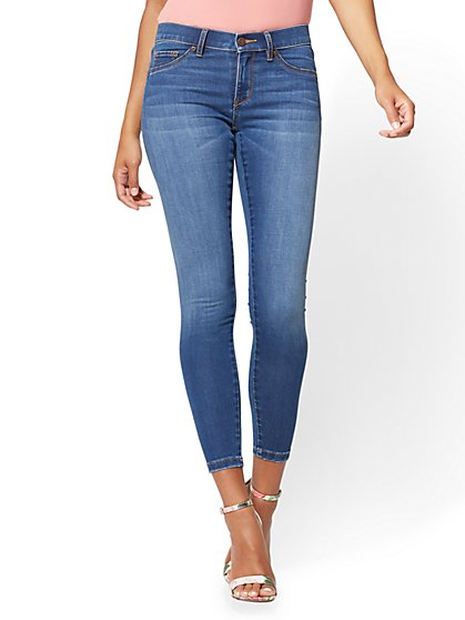 Soho Jeans - Seamless Ankle Legging - Blue Bandit Wash - New York & Company