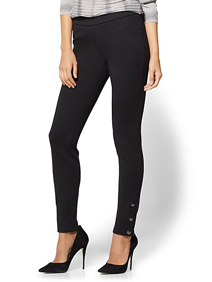 Soho Jeans - Side-Button Legging - New York & Company