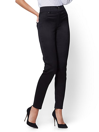 Soho Jeans - Slim-Leg Ankle - Black - Petite - New York & Company