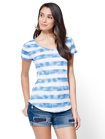 Soho Jeans Tie-Dye Tee - New York & Company