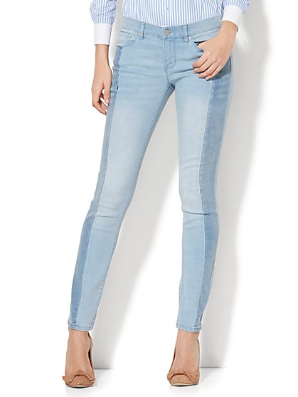 Soho Jeans - Two-Tone Skinny - Blue Story Wash - New York & Company
