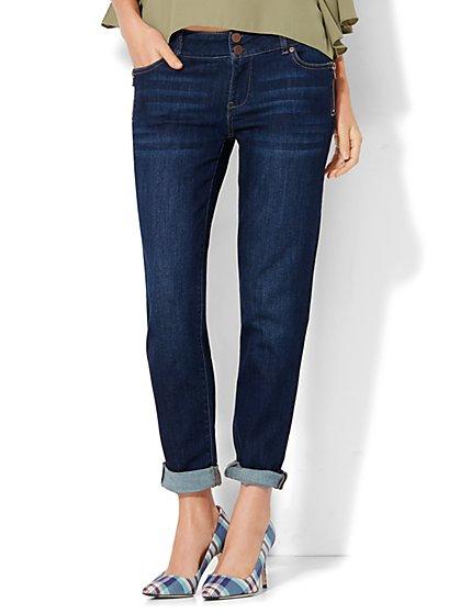 Soho Jeans - Zip-Accent Boyfriend - Highland Blue Wash  - New York & Company