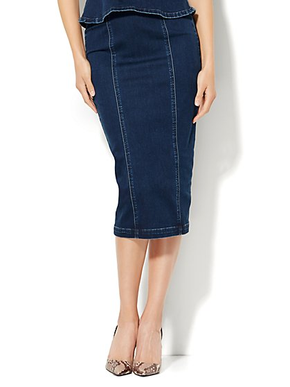 Soho Jeans Zip-Accent Skirt - New York & Company