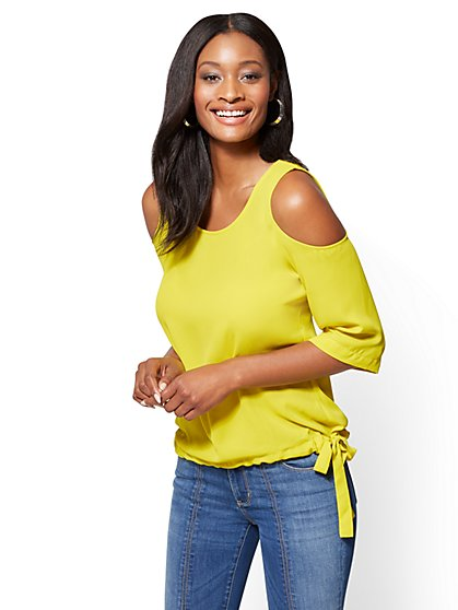 Soho Soft Shirt - Cold-Shoulder Blouse - New York & Company