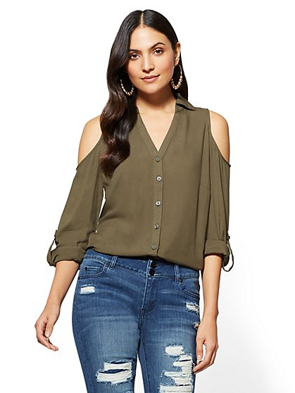 Soho Soft Shirt - Cold Shoulder - New York & Company