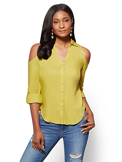 Soho Soft Shirt - Cold Shoulder - New York & Company