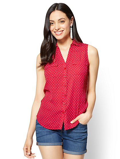 Soho Soft Shirt - Dot Print - New York & Company