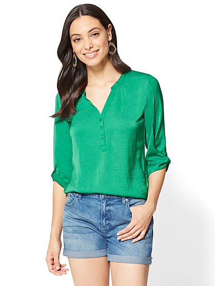 Soho Soft Shirt - Knot Sleeve - New York & Company