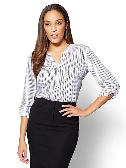 Soho Soft Shirt - Knot Sleeve - New York & Company