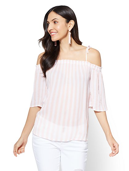 Soho Soft Shirt - Off-The-Shoulder Blouse - New York & Company