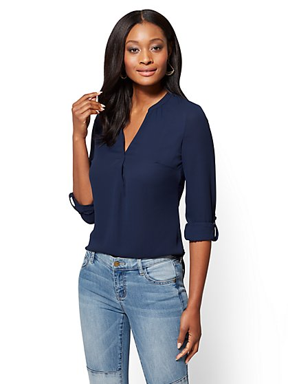 Soho Soft Shirt - Split-Neck - New York & Company