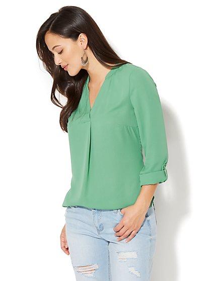 Soho Soft Shirt - Split-Neck - New York & Company