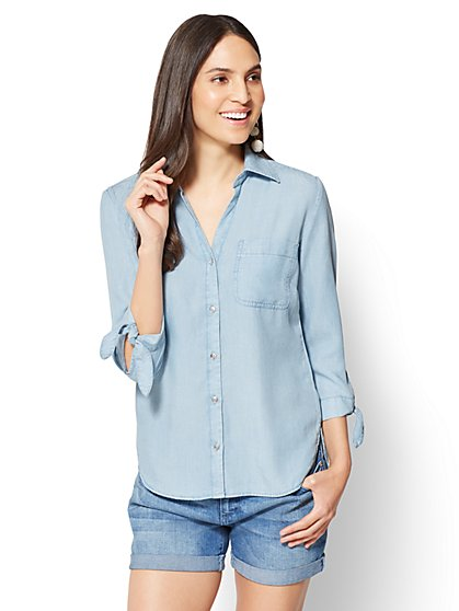 Soho Soft Shirt - Ultra-Soft Chambray - New York & Company