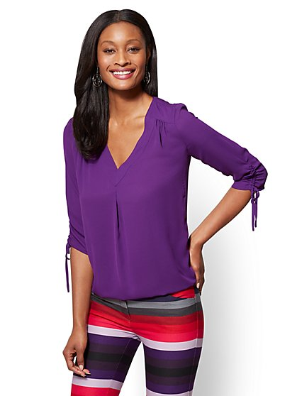Soho Soft Shirt - V-Neck Blouse - New York & Company