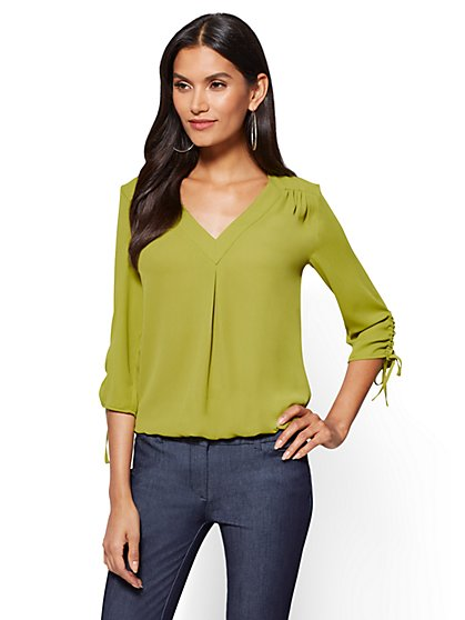 Soho Soft Shirt - V-Neck Blouse - New York & Company