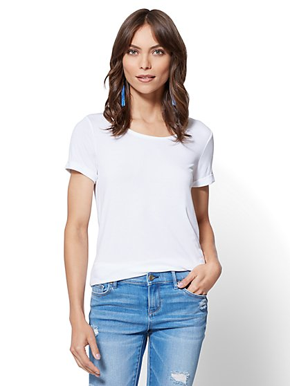 Soho Soft Tee - Boyfriend Tee - New York & Company