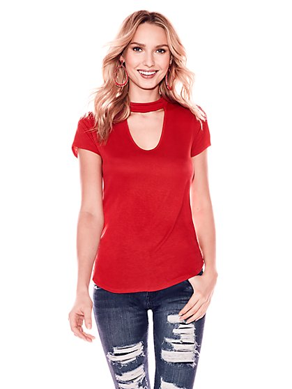 Soho Soft Tee - Choker Top - New York & Company