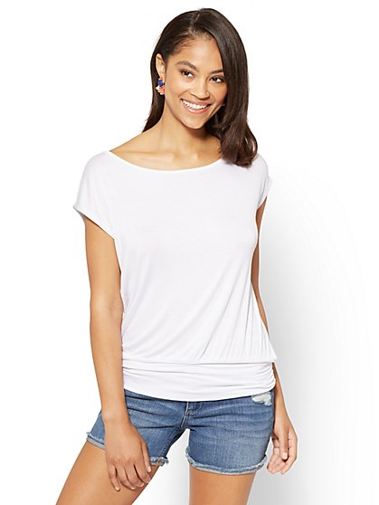 Soho Soft Tee - Shirred Dolman - New York & Company