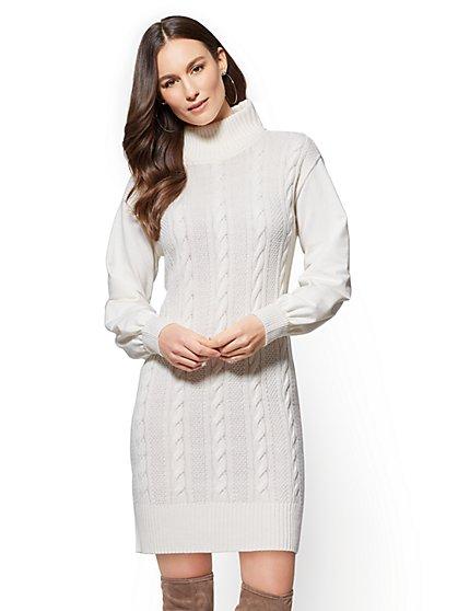 Soho Street - Cable-Knit Sweater Dress - New York & Company