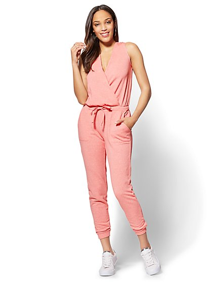 Soho Street French Terry Jumpsuit - New York & Company