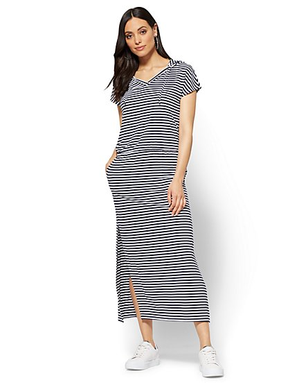 Soho Street Hooded Maxi Dress - New York & Company