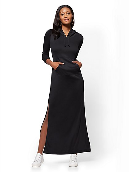 Soho Street - Hooded Maxi Dress - New York & Company